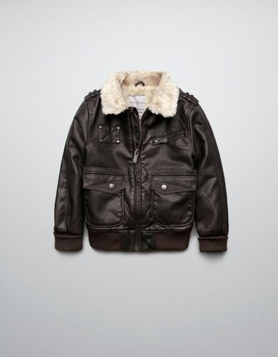 FAUX LEATHER JACKET WITH SHEEPSKIN LINING - Boy - New this week ...
