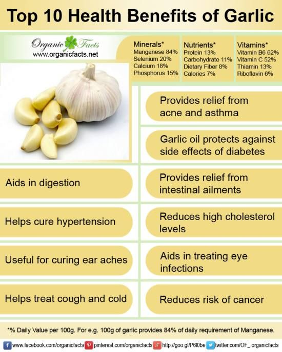 Health Benefits For Babies To Have Food With Garlic