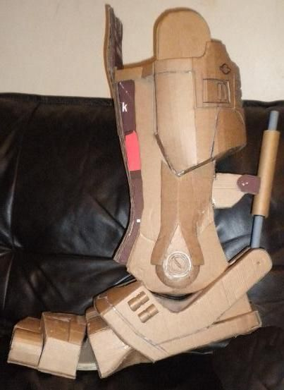 Cardboard Robocop Armour Build How 2 Cardboard Art Armour
