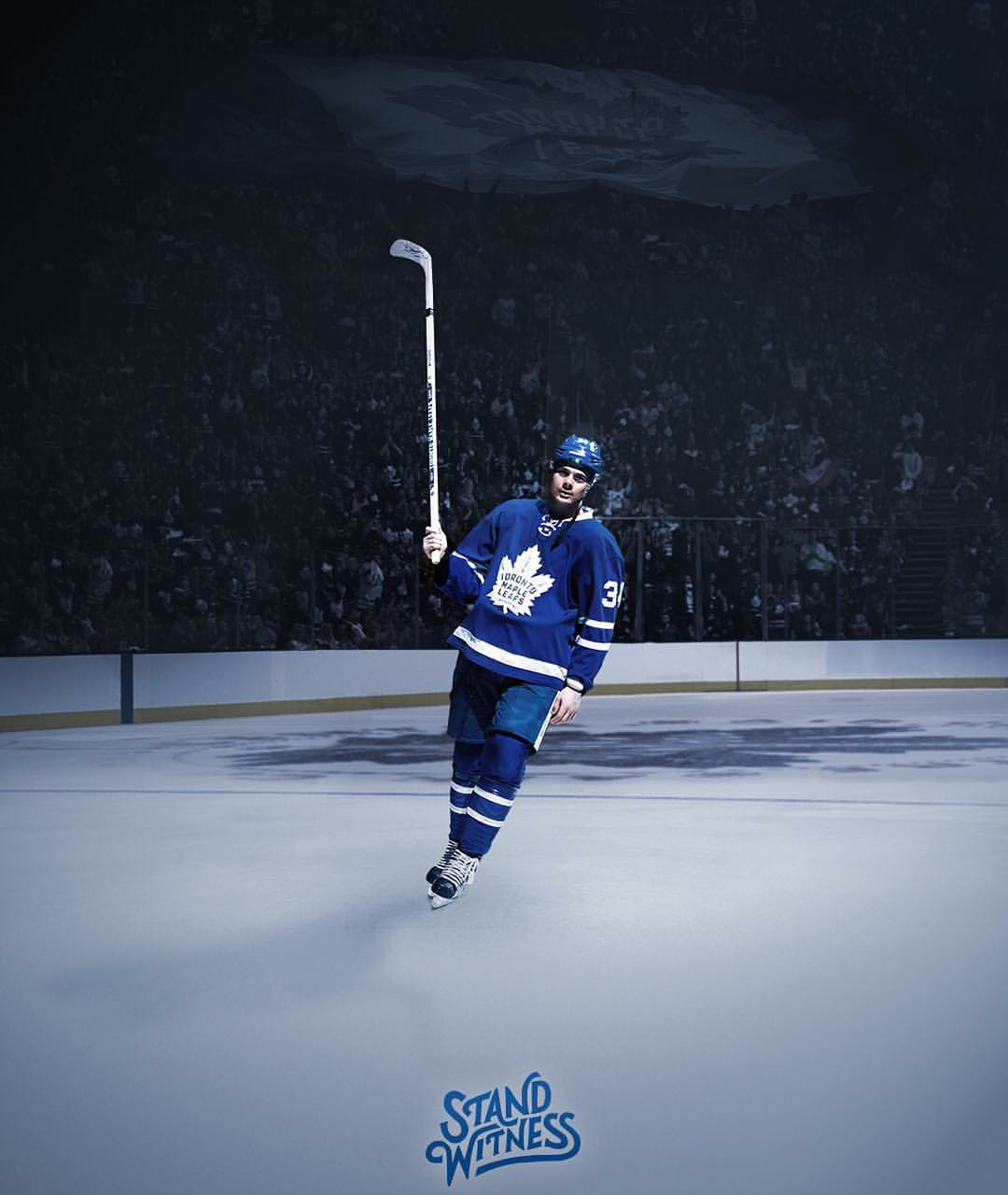 Auston Matthews 38 Goals Are The Most Ever For A Leafs Rookie Toronto Maple Leafs Toronto Maple Leafs Wallpaper Maple Leafs