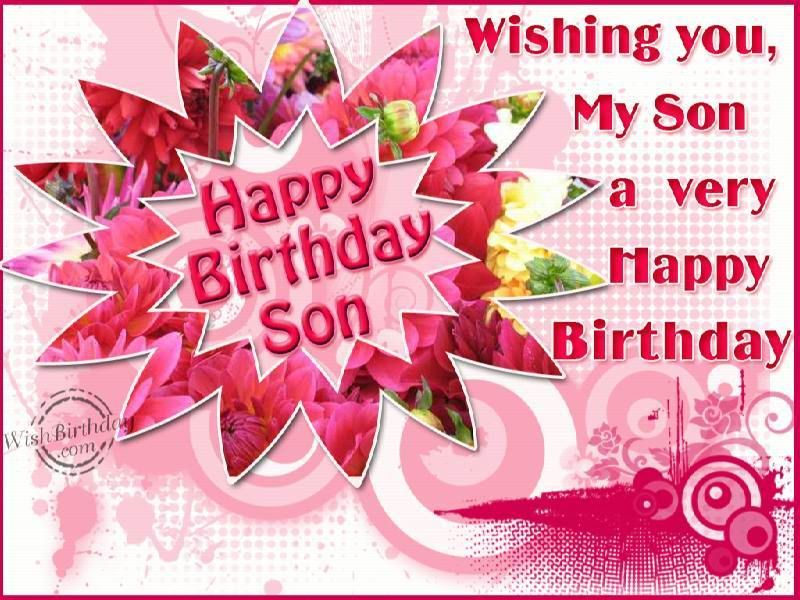 Happy 43 Birthday To My Son – Birthday Card for My Son