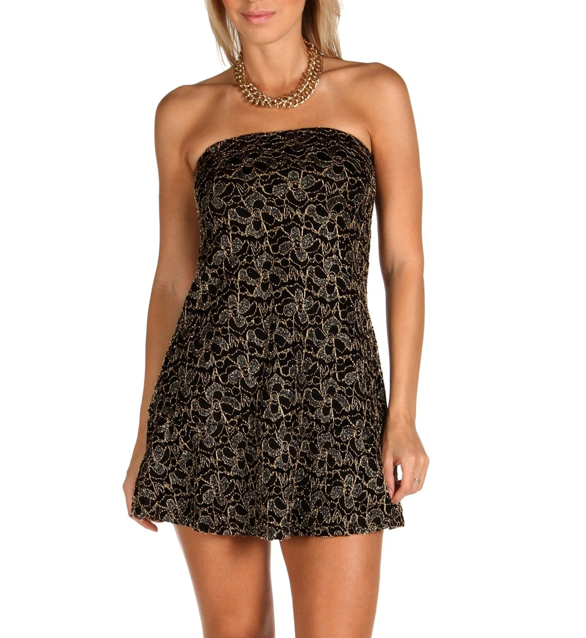 SALE-Black Lace Fluted Tunic at WindsorStore