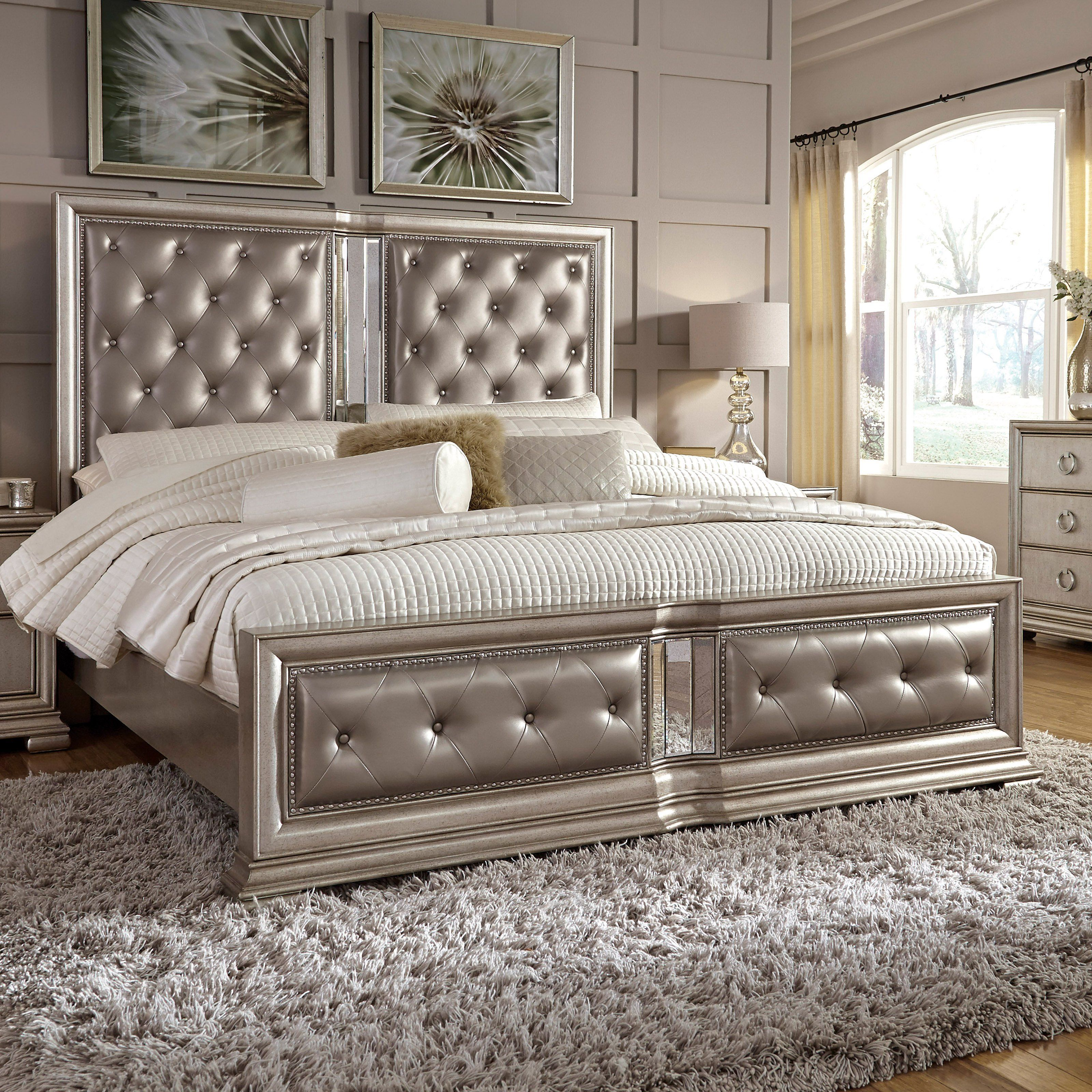 The Pulaski Couture Button Tufted Complete Platform Bed Is Nothing