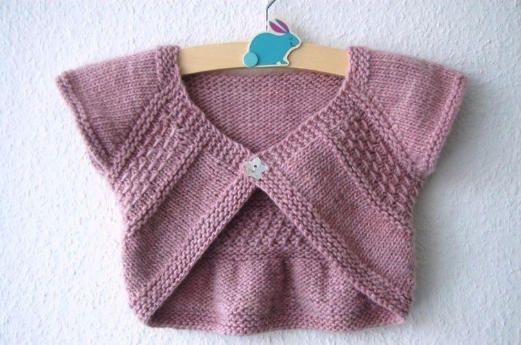 Entrechat boléro pour bébé et petite fille du 3 mois au 6 ans- explications tricot | Tricot ...