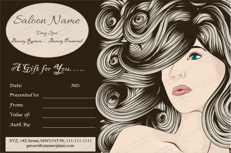 Wordgiftcertificate freegiftcertificate giftvoucher saloon gift get beautifully designed chaps saloon gift certificate template from our premium certificates collection yadclub Images
