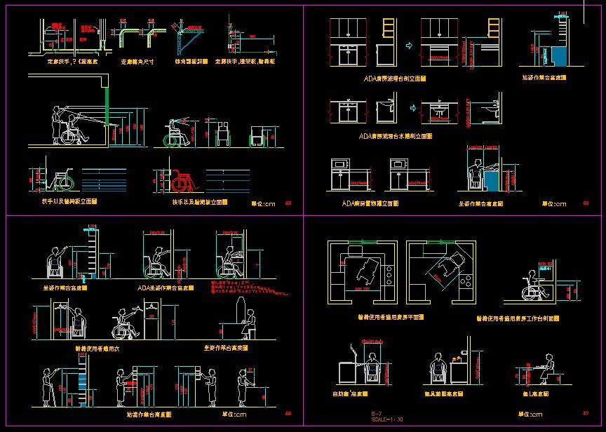 Handicap facilities cad library autocad blocks Opensource cad dwg