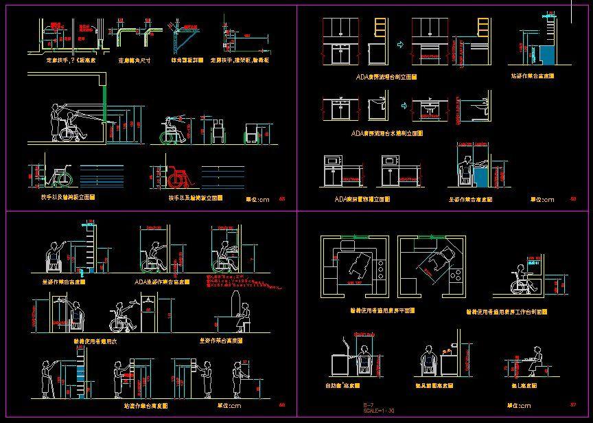 Handicap Facilities Cad Library Autocad Blocks: opensource cad dwg