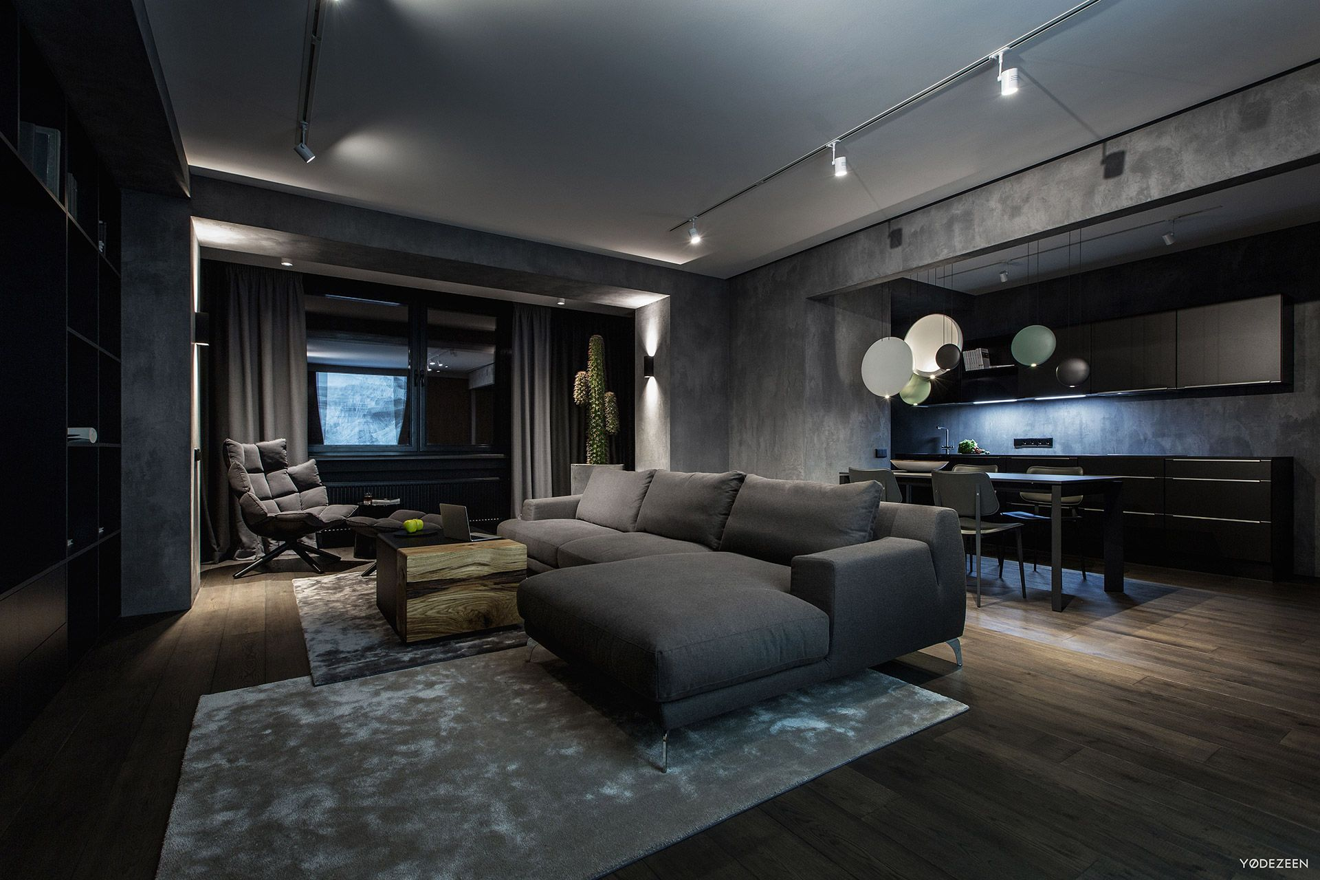Exquisite Modern Dark Interiors Modern Houses Interior