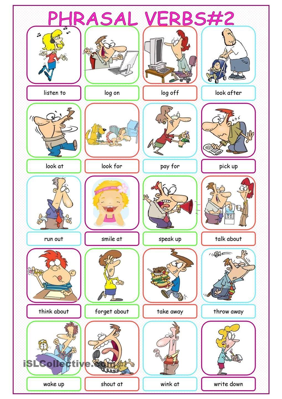 Phrasal Verbs Picture Dictionary worksheet - Free ESL printable worksheets  made by teachers