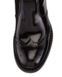 N2LMF Jimmy Choo Linton Men's VVC Vintage Calf Boot, Black