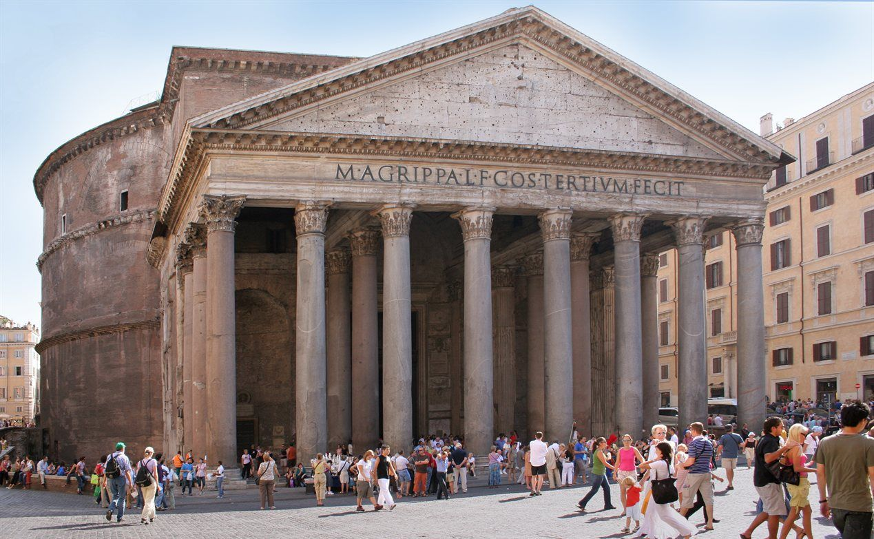 The Pantheon is possibly the bestpreserved building of all