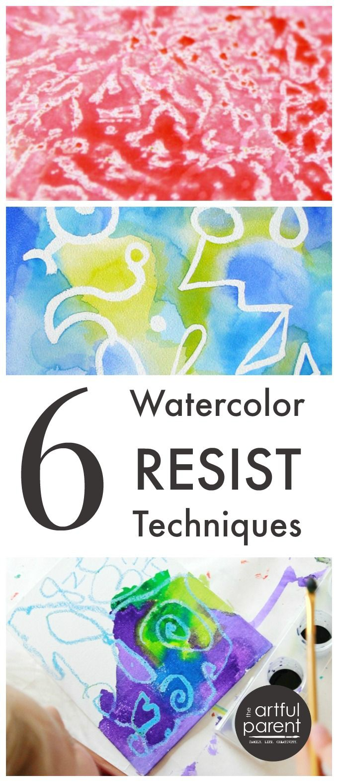 6 Amazing Watercolor Resist Techniques To Try With Kids Art