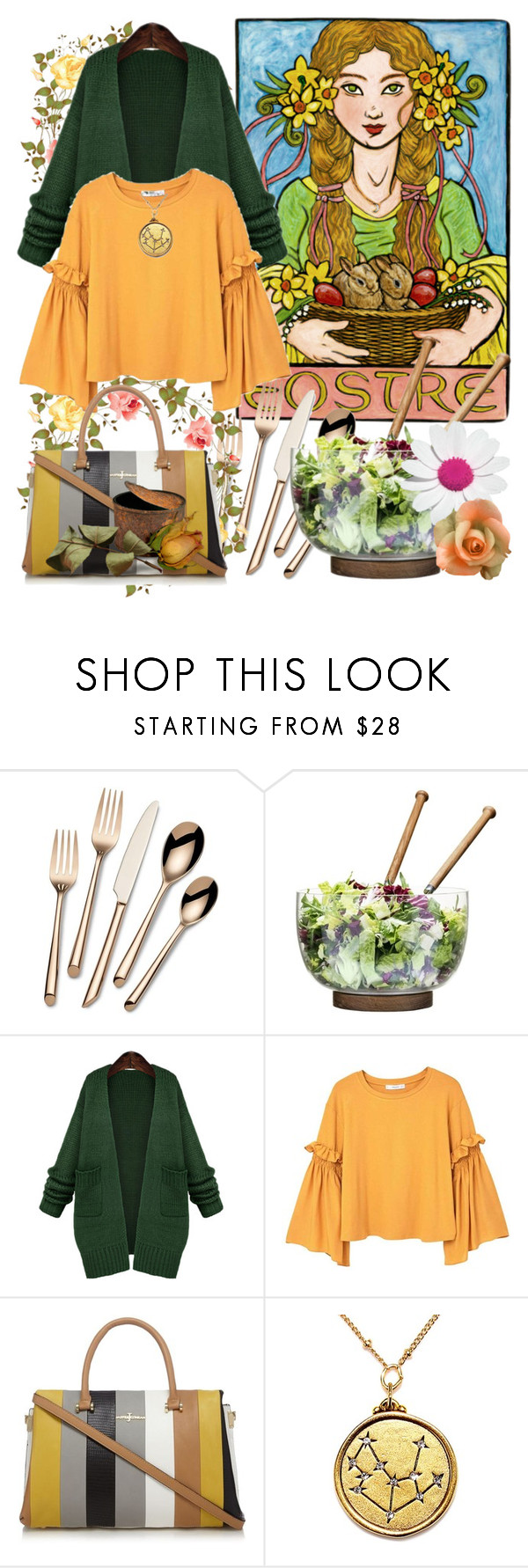 """#Brunch With Friends"" by detroitgurlxx ❤ liked on Polyvore featuring Towle, Sagaform, WithChic and MANGO"
