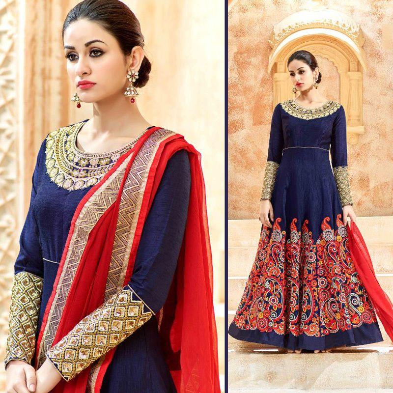 Indian Dresses Pakistani Punjabi Anarkali Gown Wedding Party Wear ...