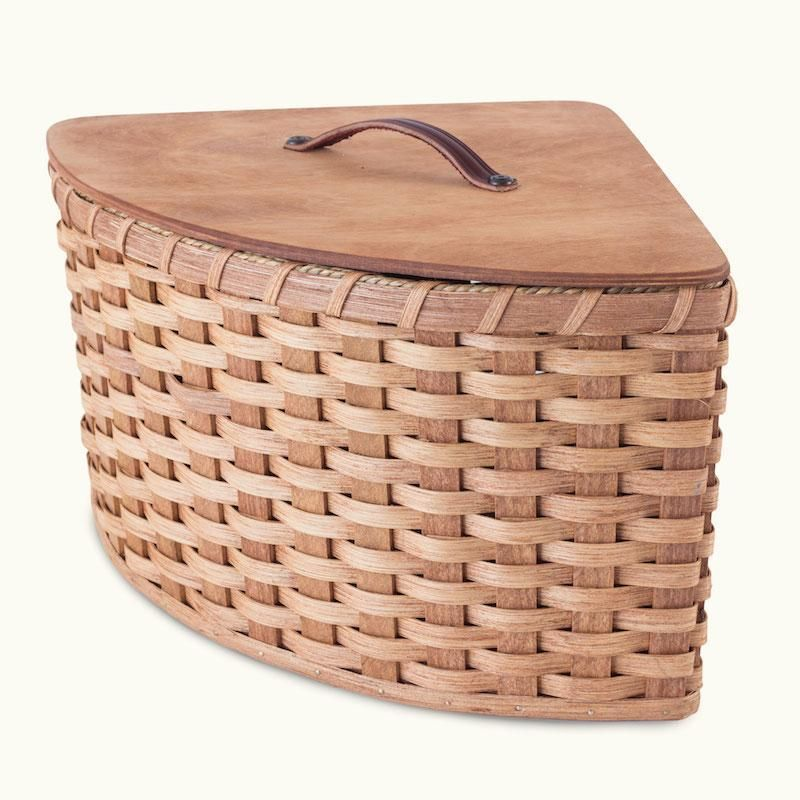 Corner Wicker Baskets Custom Size Woven Storage