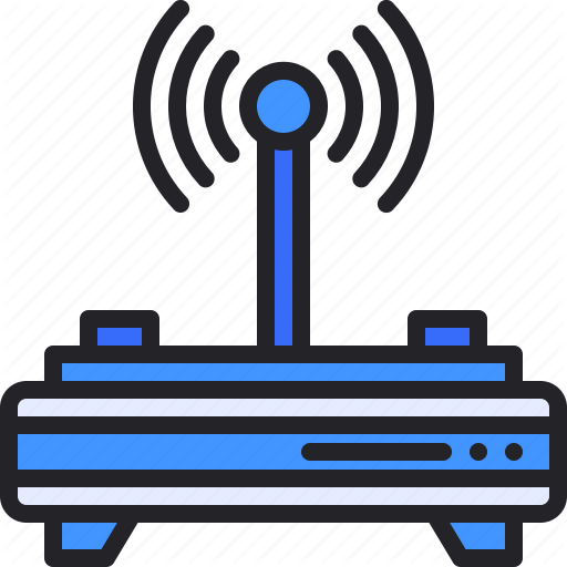 Connection Lan Router Signal Wifi Icon Download On Iconfinder Wifi Icon Router Icon