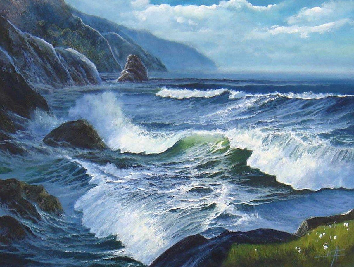 Pintor juan carlos alvaro saenz marinas pinterest for Cuadros de marinas