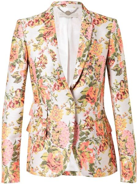 2814c69f3bc8 stella-mccartney - Floral Brocade Tailored Jacket - Lyst