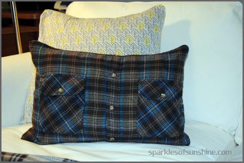 How to Make a Flannel Shirt Pillow in 5 Easy Steps Shirt