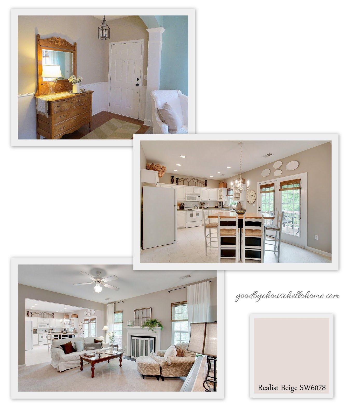 Living Room And Kitchen Stage By Synergy Staging: Sherwin Williams Realist Beige