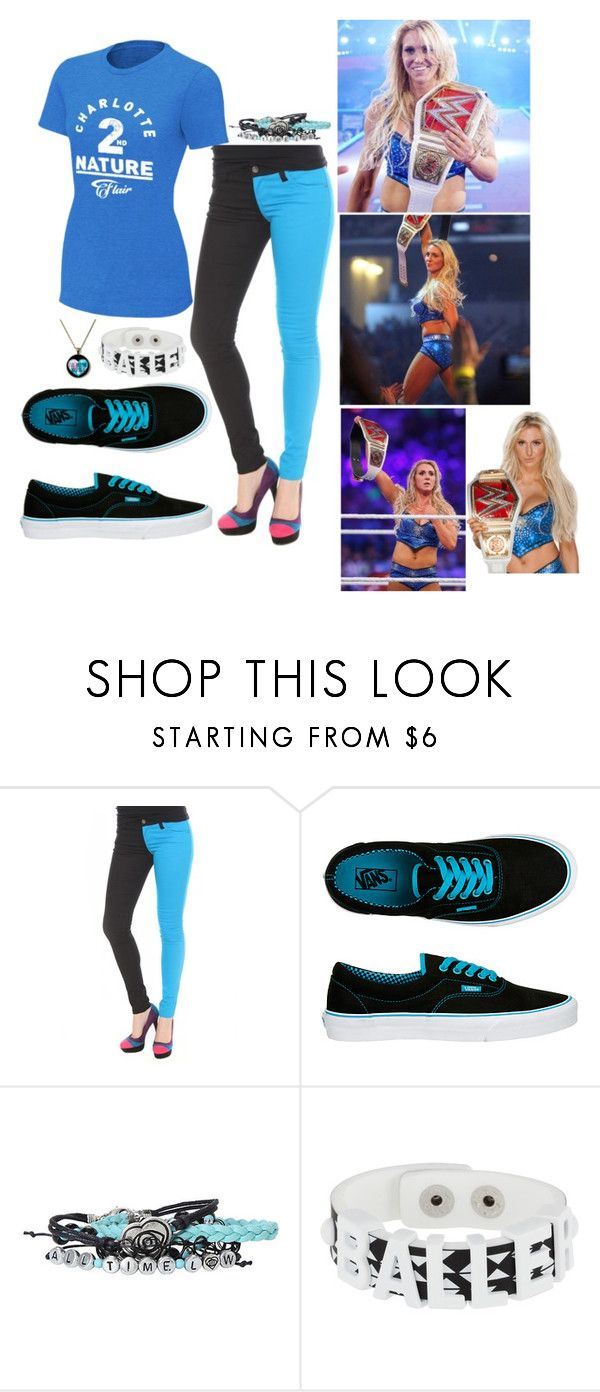 """""""Ringside for Charlotte at Wrestlemania"""" by thedarkestofhearts ❤ liked on Polyvore featuring Vans and BCBGeneration"""