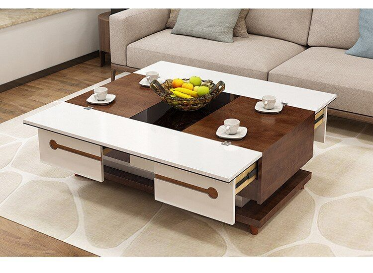 Electric Multifunction Foldable Coffee Table Living Room Liftable