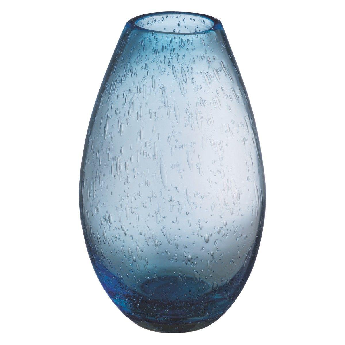 Bubble Blue Bubbled Glass Vase Buy Now At Habitat Uk Blue