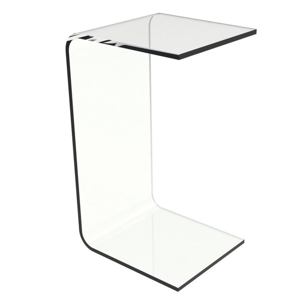 Lavish Home Acrylic Clear Modern C Style Vertical End Table Clear