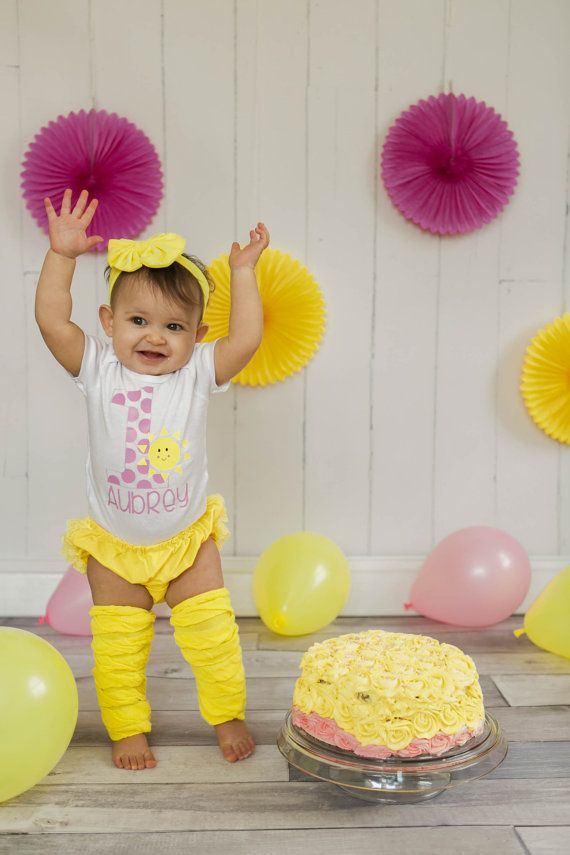 57a22f486 you are my sunshine first birthday baby by QueenBeeBoutique127 ...