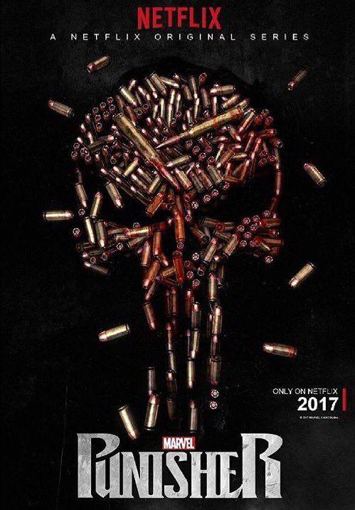 Punisher set photos show Frank Castle's iconic skull emblem