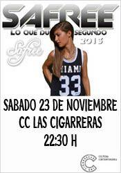 Safree en concierto en Las Cigarreras http://www.agendalacant.es/index.php/safree-en-concierto-en-las-cigarreras