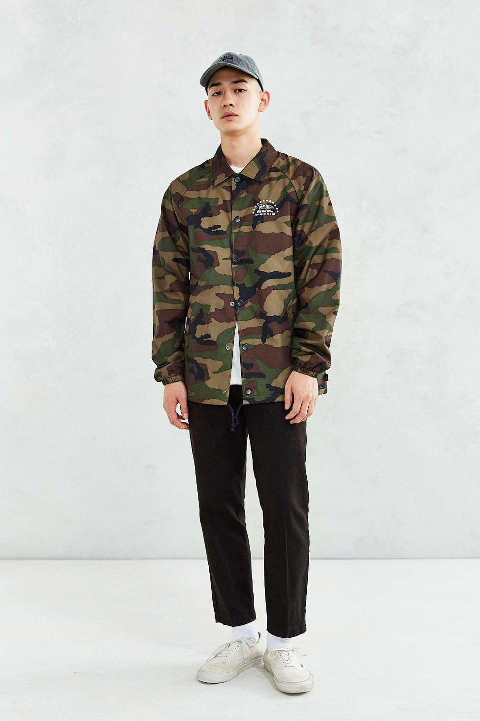 vans torrey camo coaches jacket coach jacket jackets on walls men s insulated hunting coveralls id=23547