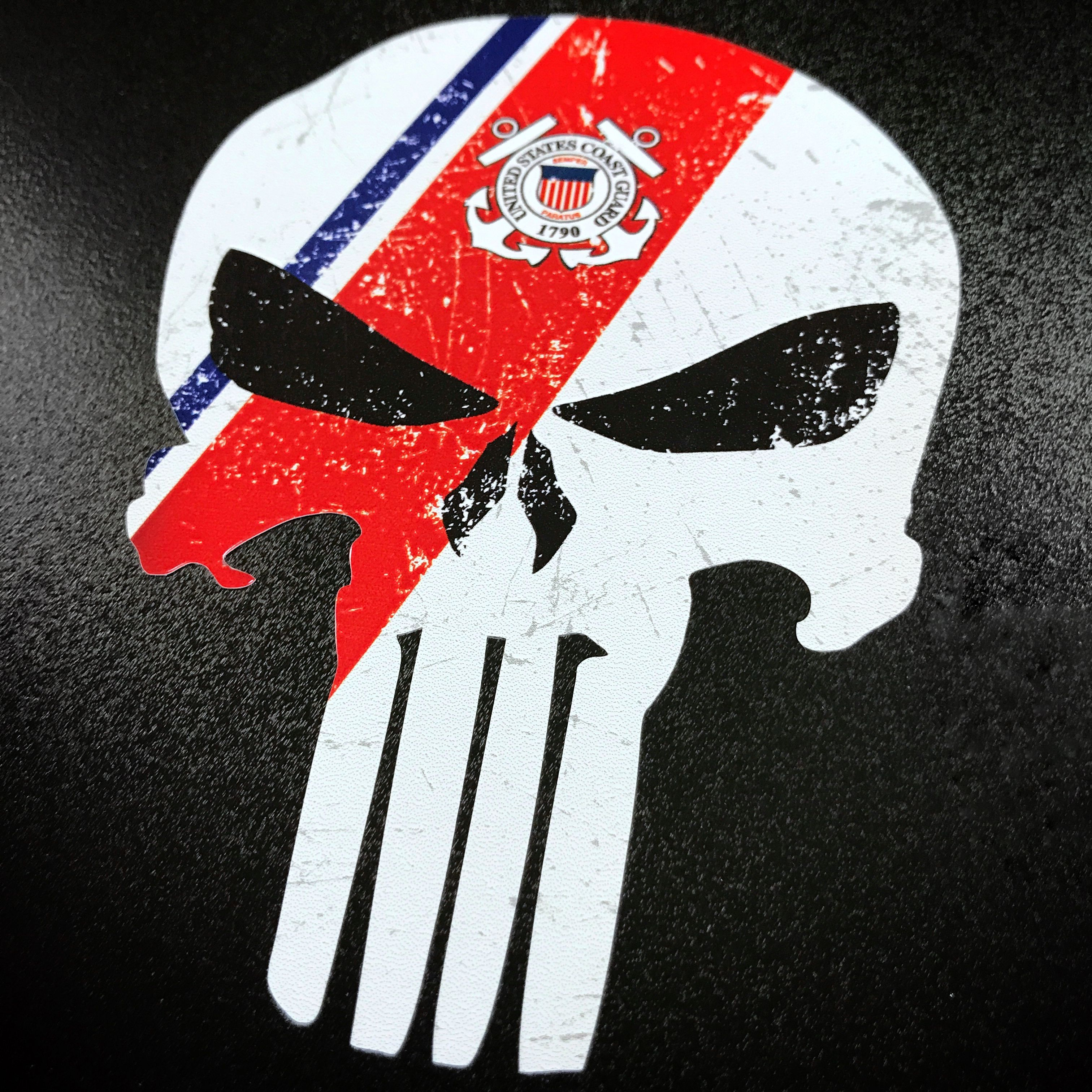 Coast Guard Flag Decal Sticker Vinyl Banner American USA Veteran United States