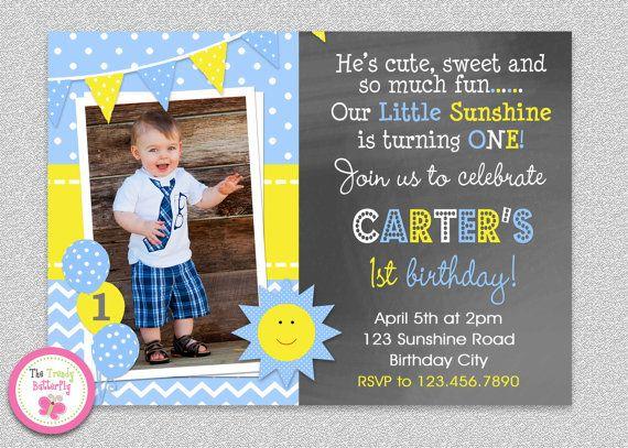 Boys Sunshine Birthday Invitation You Are My Sunshine Etsy Sunshine Birthday Parties Sunshine Birthday Pumpkin Birthday Invitations