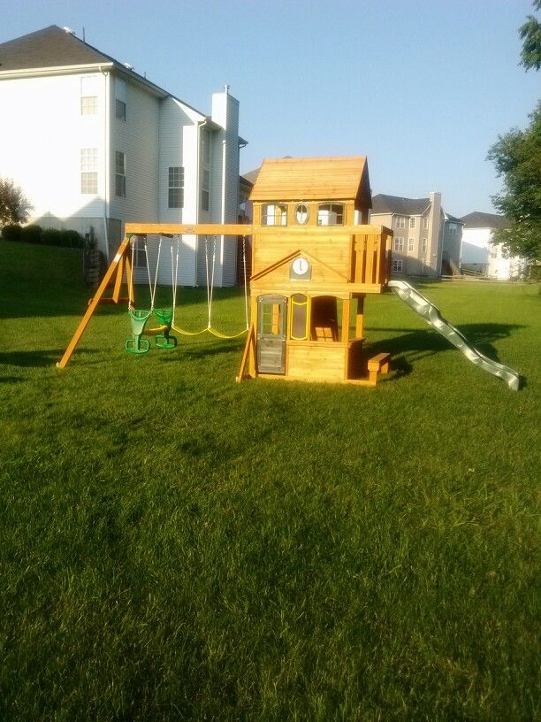 Big Backyard Ashberry Playset from Toys R Us installed ...