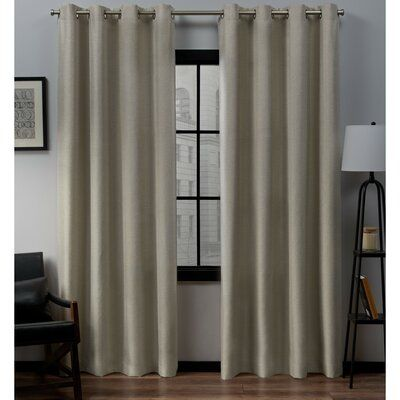 Trent Austin Design Heil Solid Color Semi Sheer Grommet Panel Pair