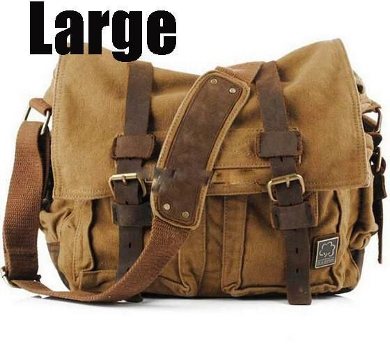 c2f21a77d8 2017 Canvas Leather Crossbody Bag Men Military Army Vintage Messenger Bags  Large Shoulder Bag Casual Travel Bags I AM LEGEND