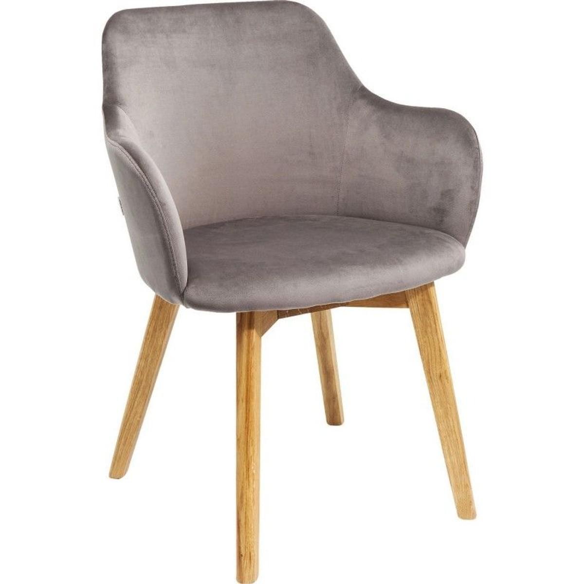 Chaise Avec Accoudoirs Lady Velours Gris Kare Design Taille Tu Chaise Accoudoir Kare Design Et Chaise