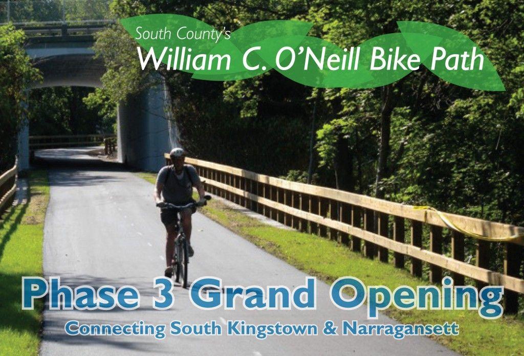 O'Neill Bike Path Rhode Island Bike path, Bike, Paths