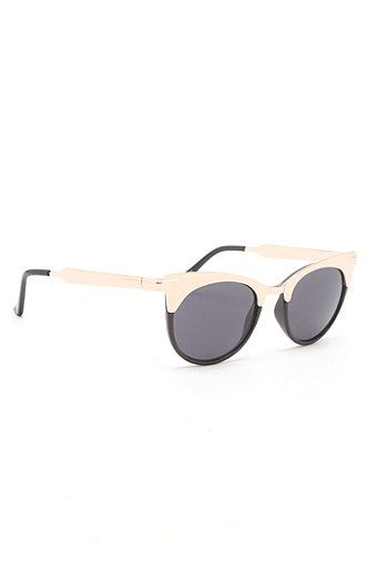 Kendall & Kylie Metal Top Round Frame Sunglasses at PacSun.com- these are exactly like the spitfire pair i lost