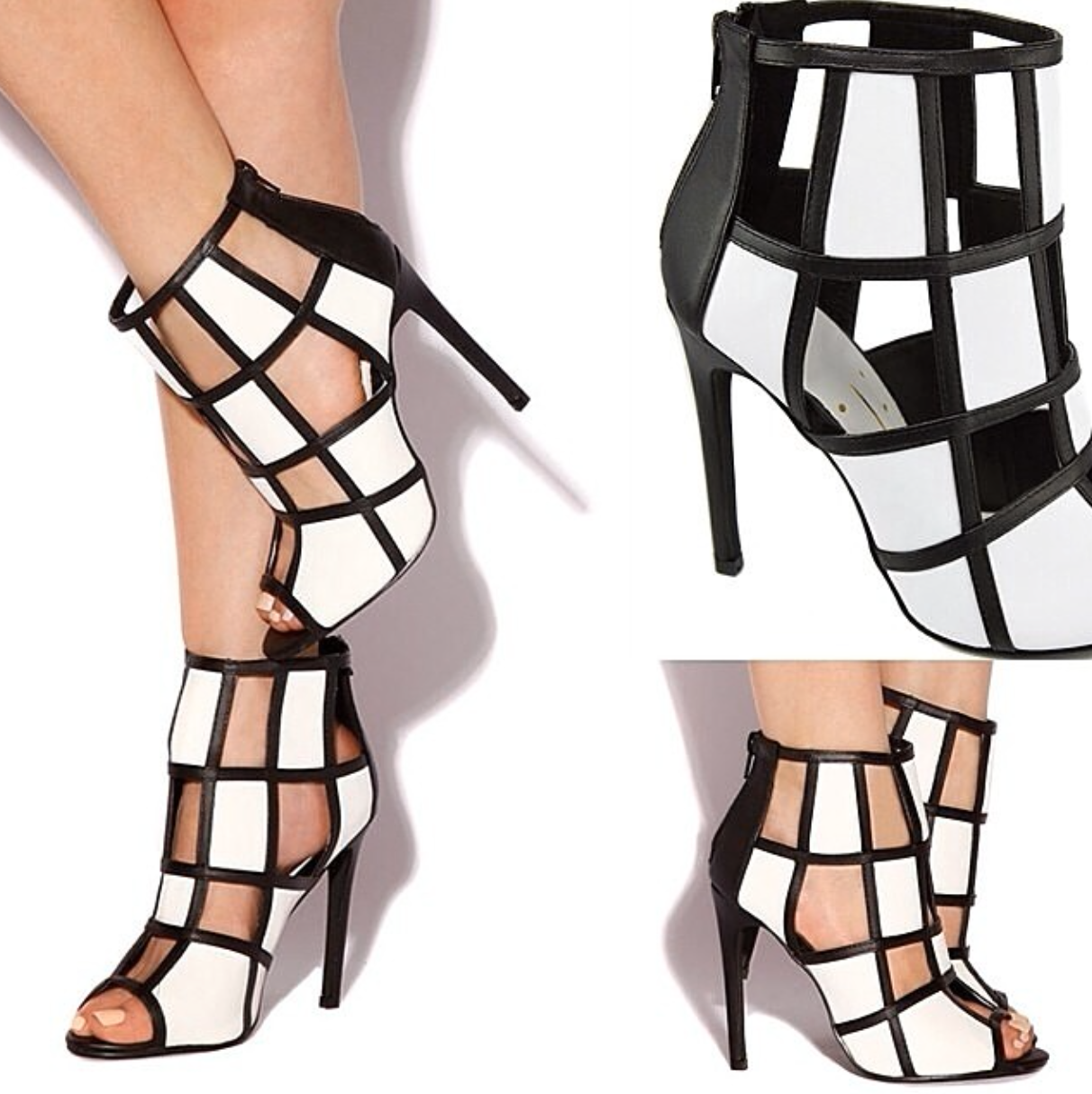 ⚫️⚪️⚫️⚪️◼️◻️◼️◻️ It's Time To Add A Twist To Your Already Fabulous Summer Wardrobe!☀️ Aren't These Single Sole Heels Absolutely Amazing?!? Add Our Highly Requested ✨UPGRADED HEAT✨ To Your Collection NOW! #LOLASHOETIQUE Tag Any Shoe-Lover That Would Love These!