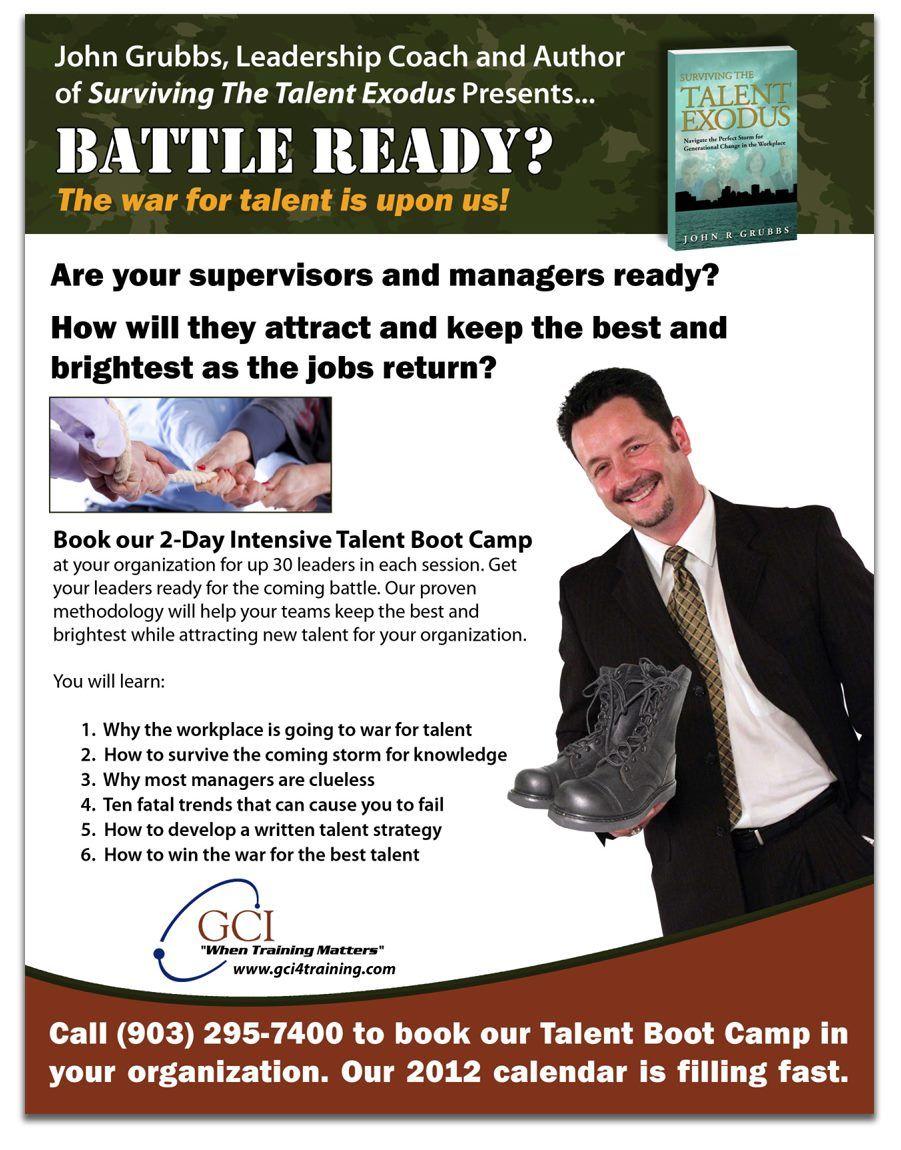 Event Flyer For Professional Speaker John Grubbs  Marketing