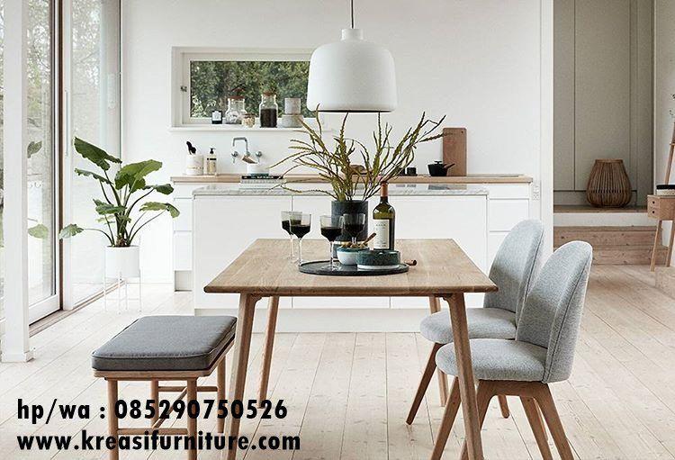 Set Kursi Cafe Jok Model Scandinav Kreasi Furniture Jepara Meja Makan Set Meja Makan Kayu Jati