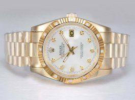 08011b017d0 Rolex Datejust Automatic Diamond Marking-Silver Dial Montre