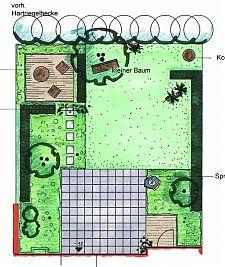 garten planen vorentwurf 1 orthogonal tuin. Black Bedroom Furniture Sets. Home Design Ideas