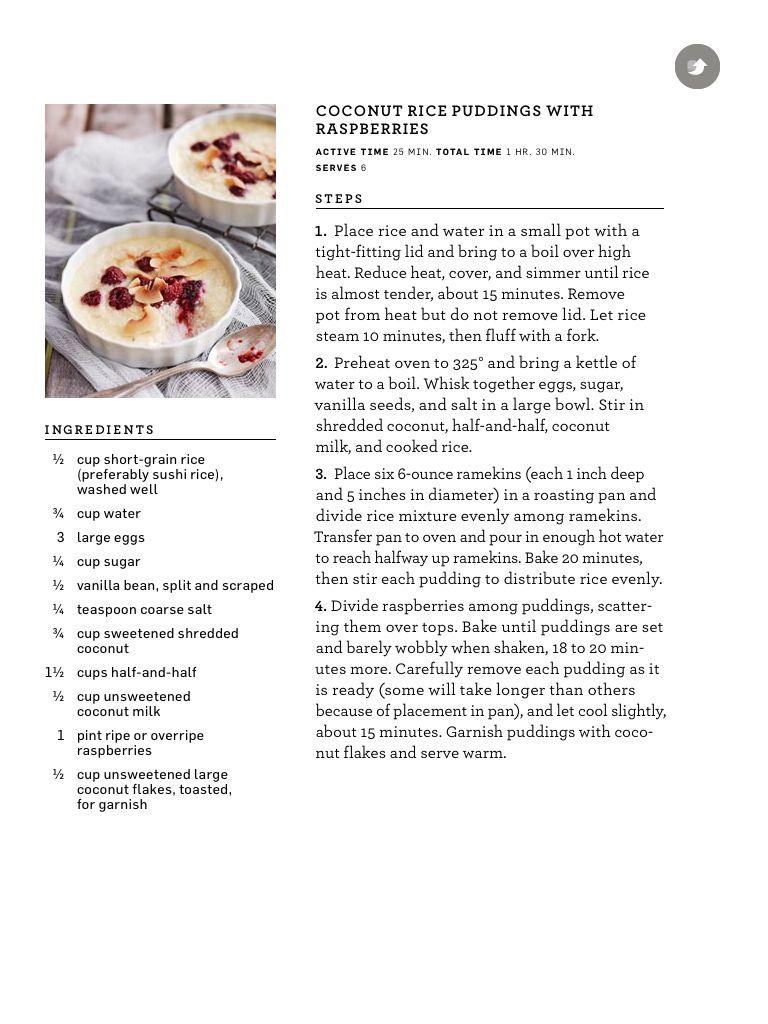 Martha Stewart coconut rice pudding | Food! | Pinterest | Coconut ...