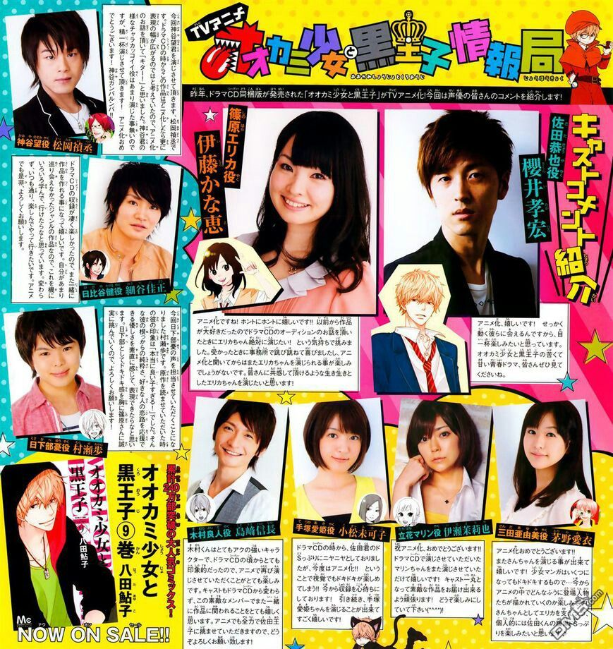 Cast announced for the live action of Ookami shoujo to