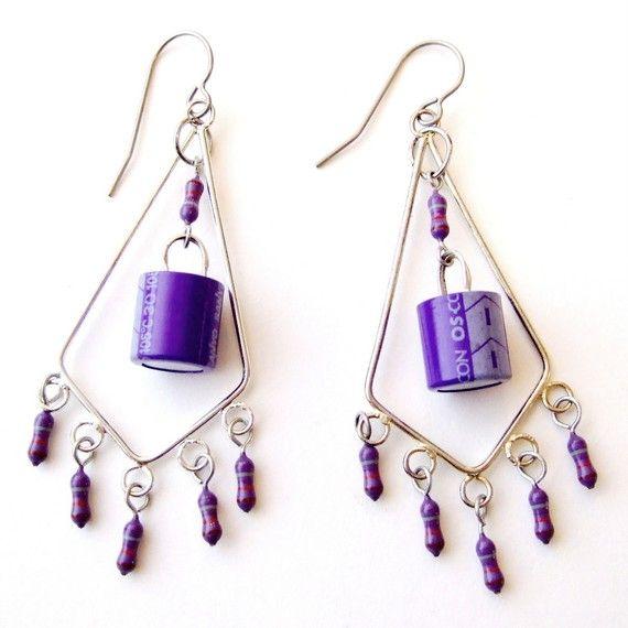 purple computer electronics chandelier earrings. Black Bedroom Furniture Sets. Home Design Ideas