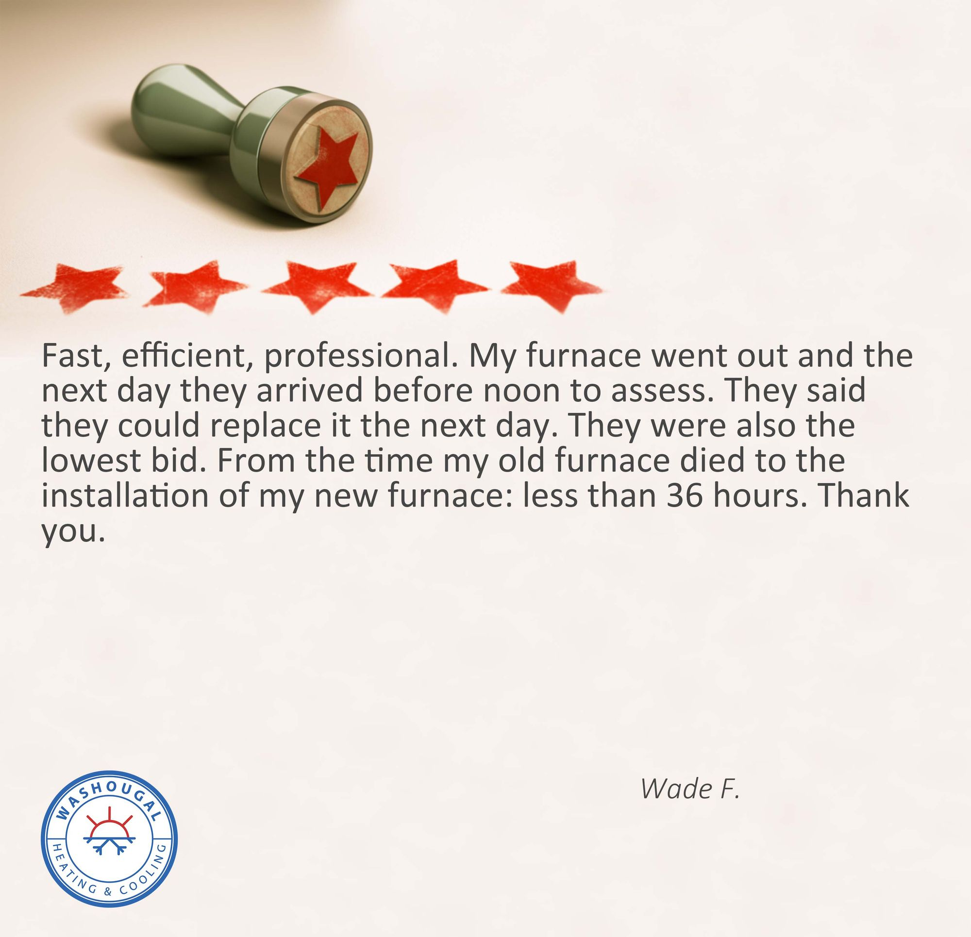 Check Out This Great Review From Our Valued Customer Hvac