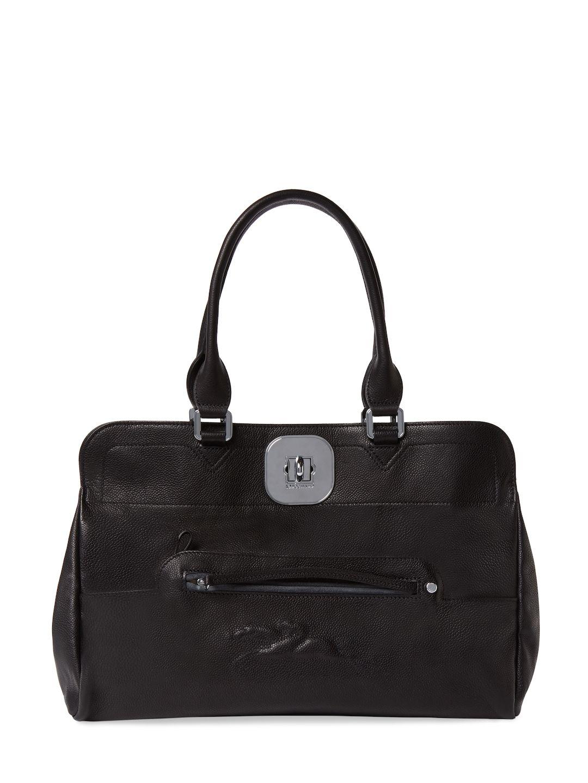LONGCHAMP WOMEN S GATSBY MEDIUM LEATHER TOTE - BLACK.  longchamp  bags   leather  hand bags  tote   9e973a6f5b1a8